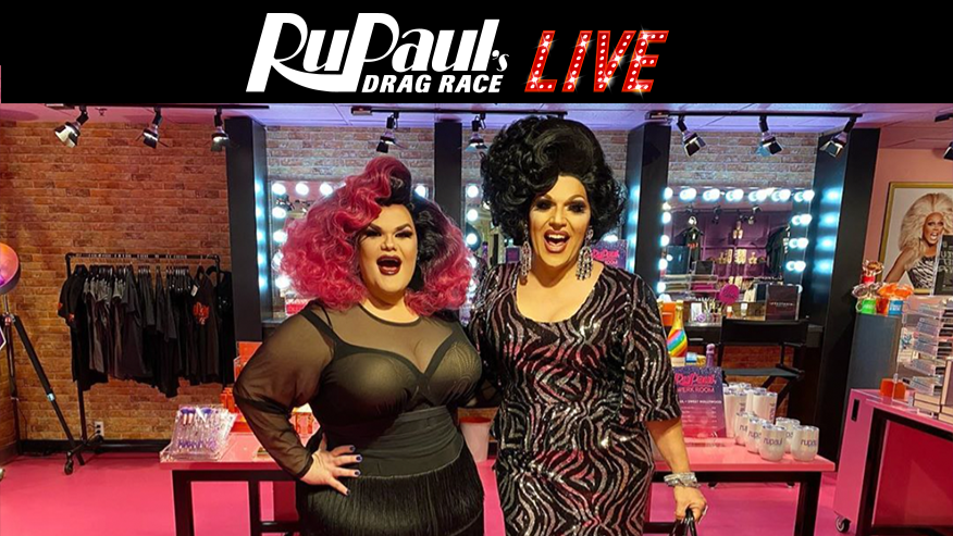 Mrs. Kasha Davis and Darienne Lake Visit  RuPaul's Drag Race Live!
