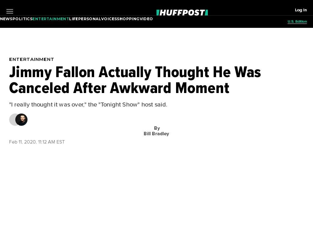 Jimmy Fallon Actually Thought He Was Canceled After Awkward Moment