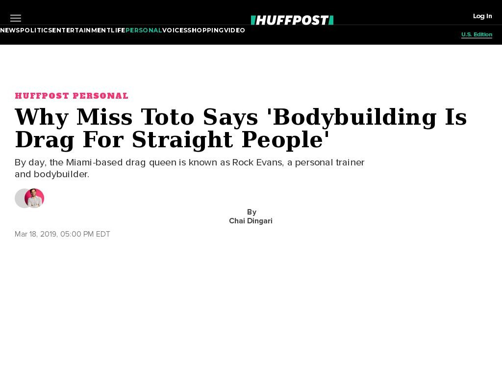 Why Miss Toto Says 'Bodybuilding Is Drag For Straight People'